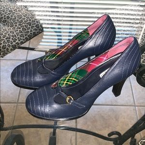 Navy blue Tommy Girl Mary Jane heels. 7.5